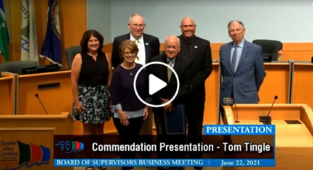 Tom Tingle JCC Commendation Video Poster Image